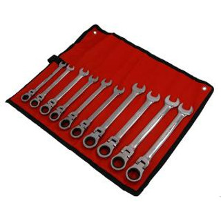 Fkexi head ratchet spanner set