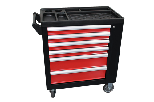 Tool Box, 6 Drawer Roller, Includes 155 Tools