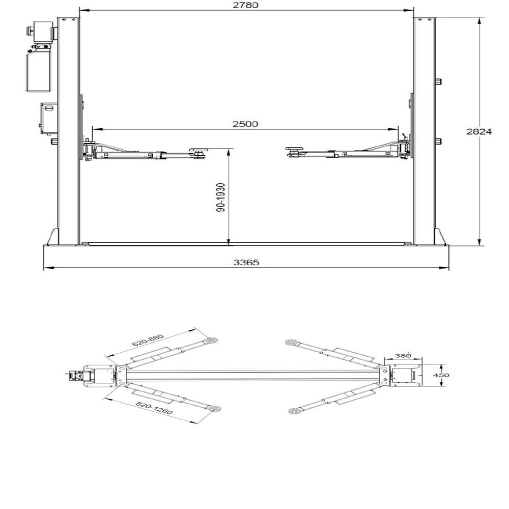 Dimensions for L220