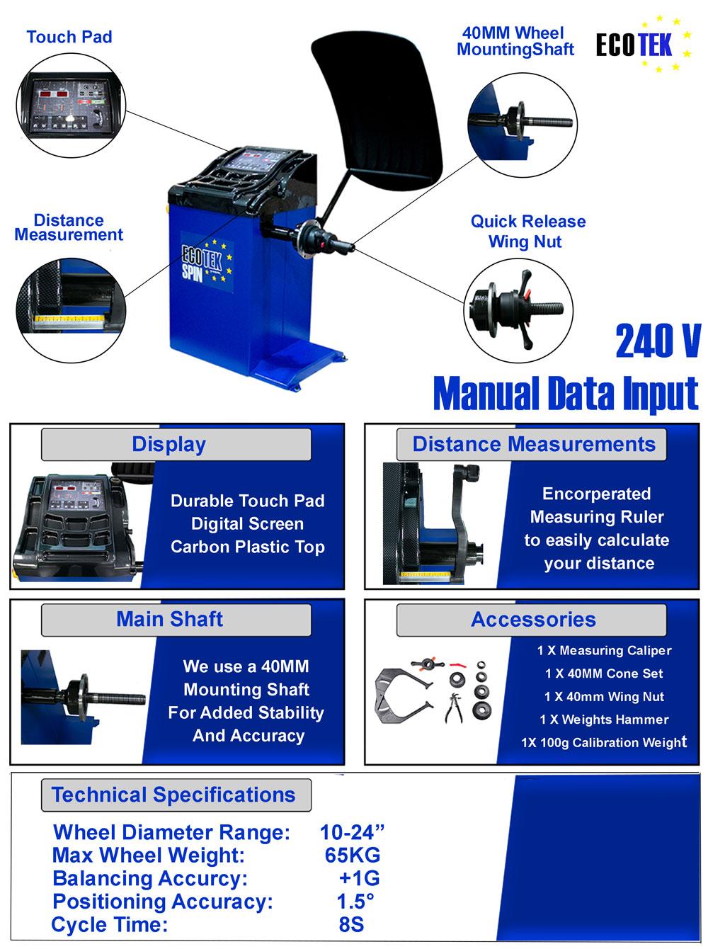 information flyer for spin wheel balancer
