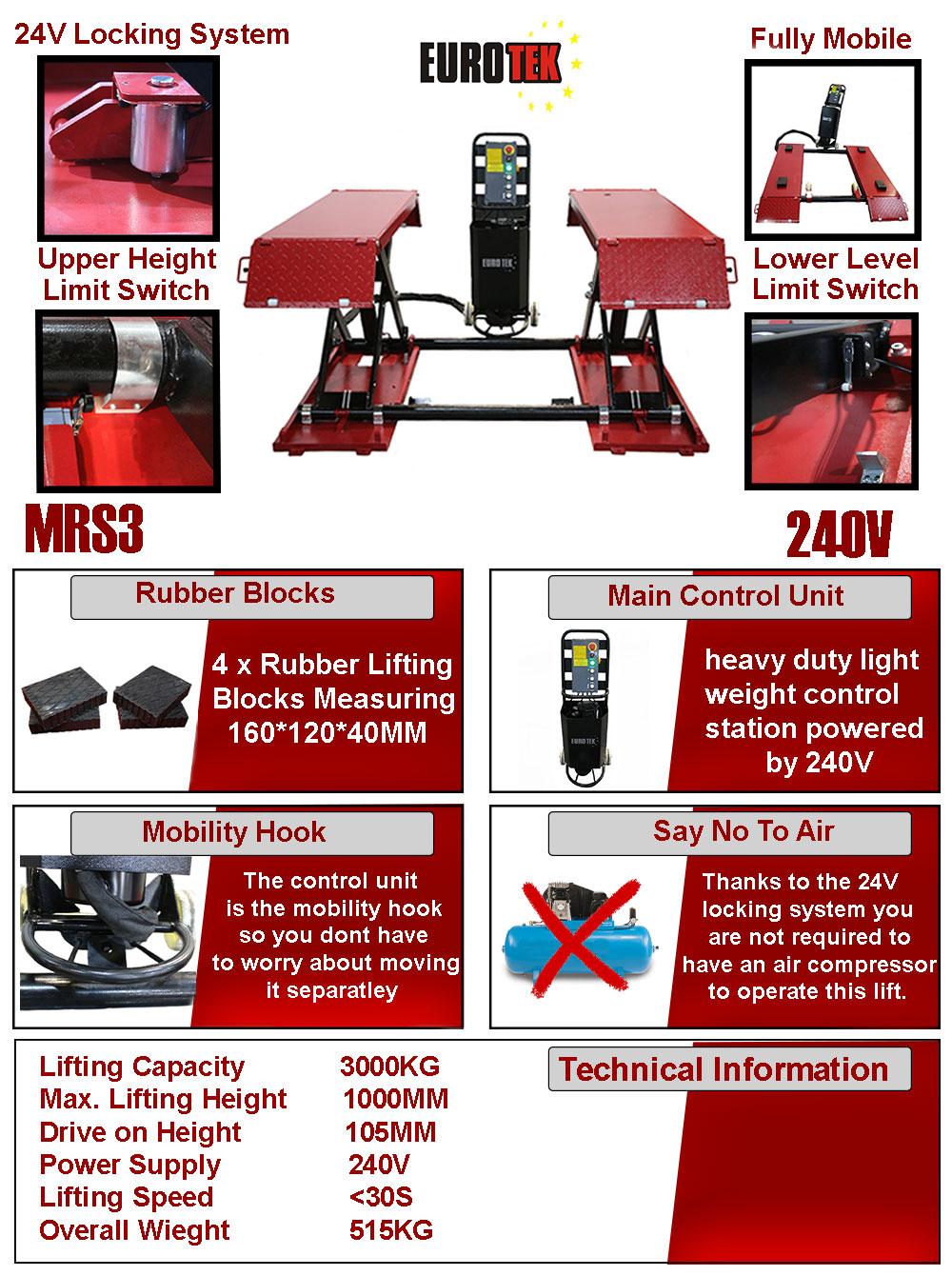 Eurotek MRS3 Mid Rise Scissor Lift Flyer