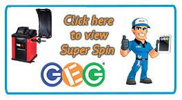 hyperlink to Eurotek super spin semi-automatic wheel balancer