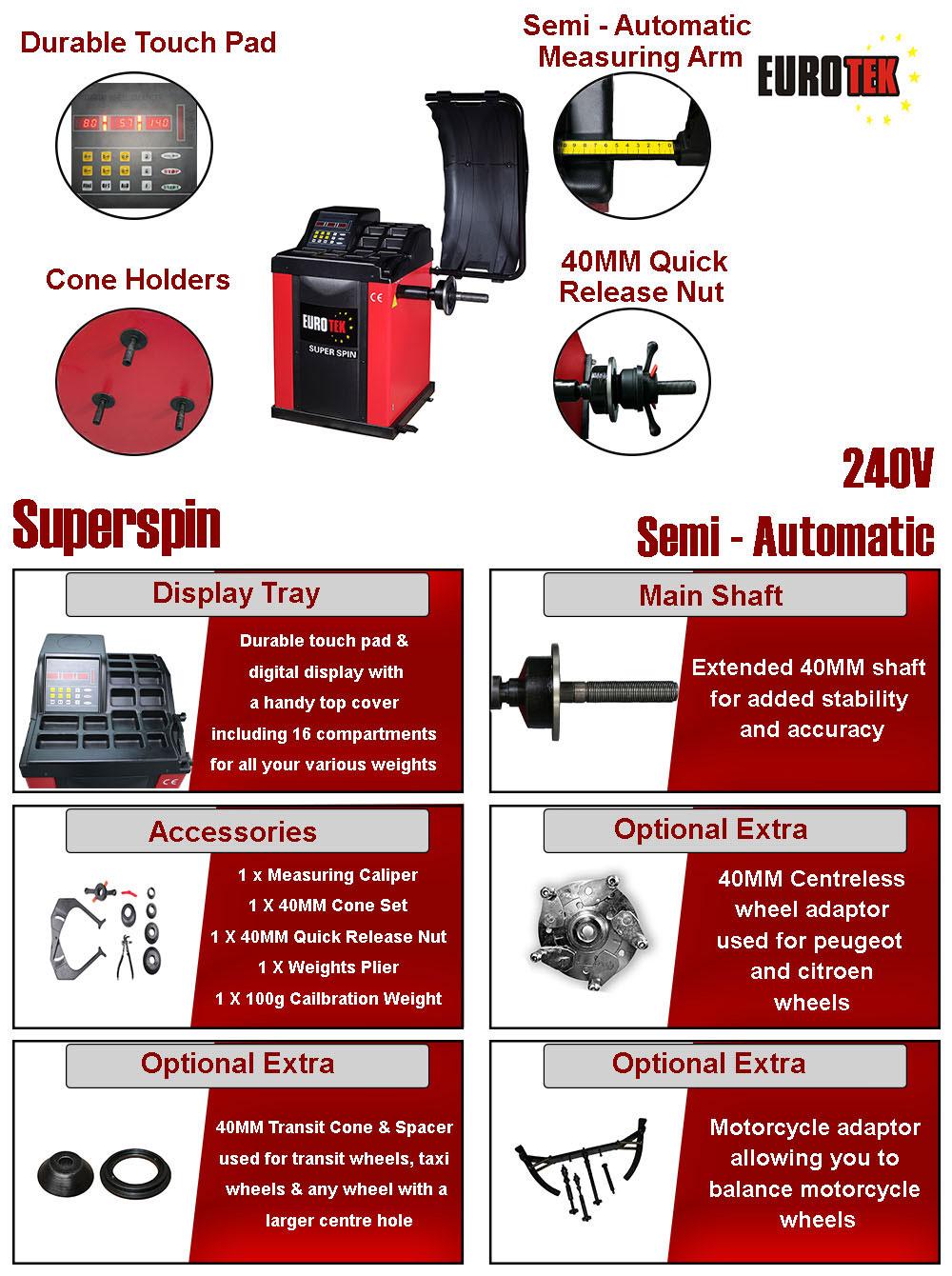 information for super spin wheel balancer