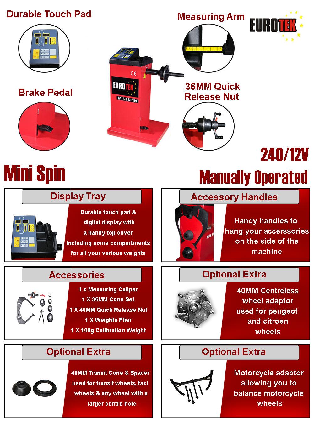 Eurotek Mini Spin Wheel Balancer information fkyer