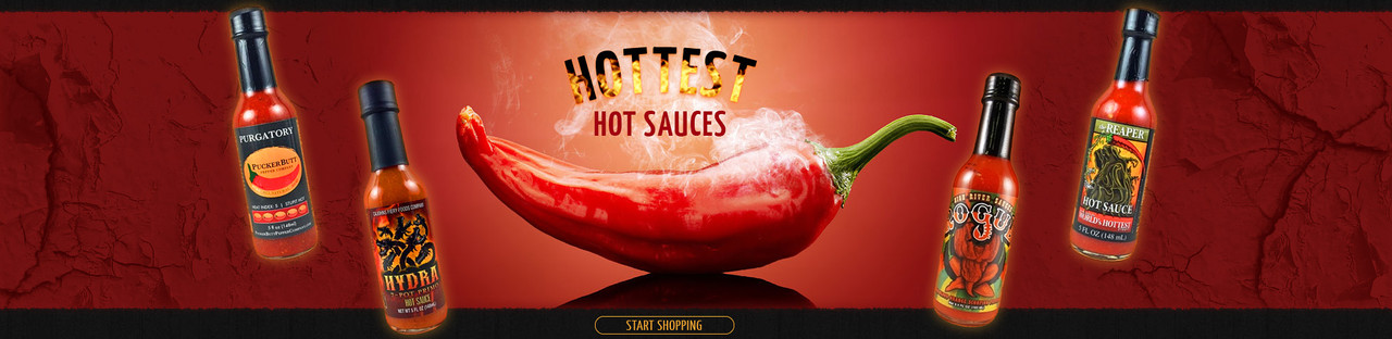 HOTTEST HOT SAUCES AT HOTSAUCE.COM - $9.95 FLAT RATE SHIPPING - FREE SHIPPING OVER $69!