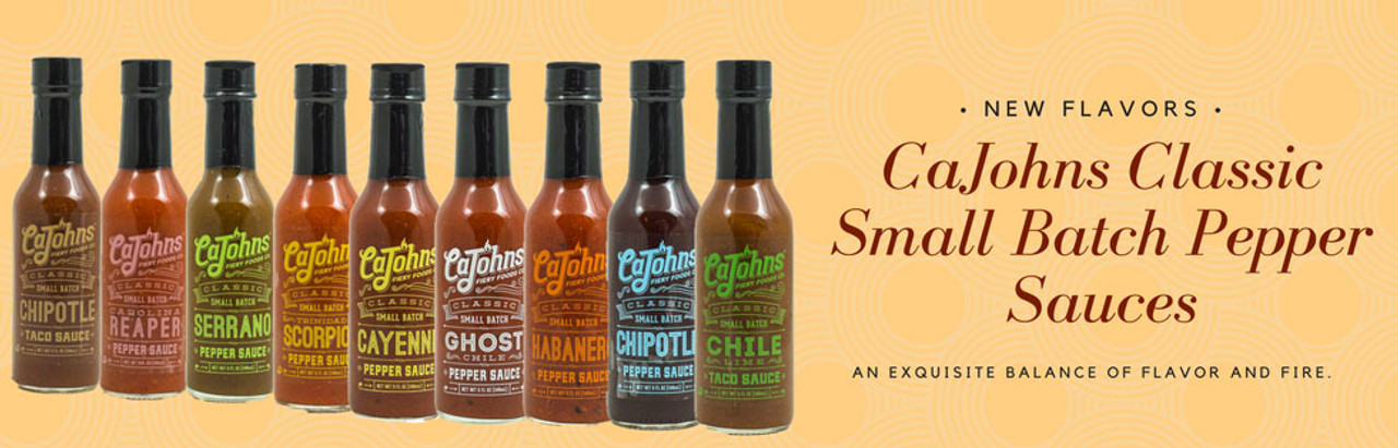 HotSauce.com - CaJohn's CLASSIC Small Batch Pepper Hot Sauces  - FREE Shipping Over $69!