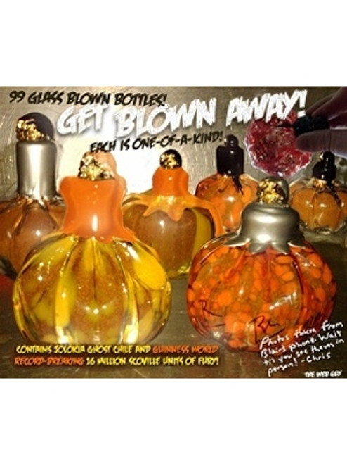 Blair's Reserve Halloween 2009, Hand Blown Pumpkin Bottle - SOLD!
