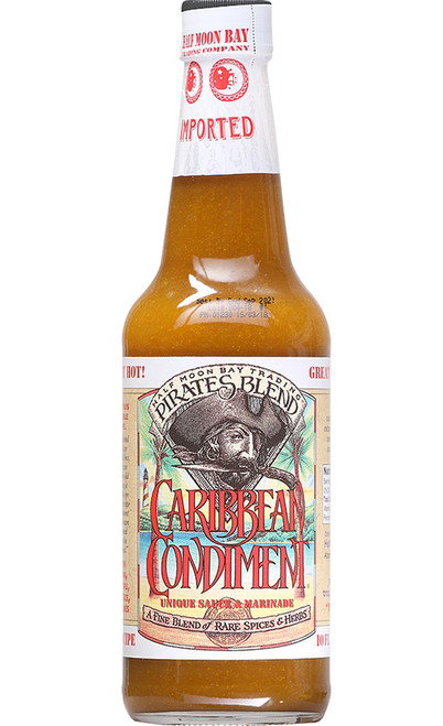Caribbean Condiment Pirates Blend Hot Sauce, 10oz.