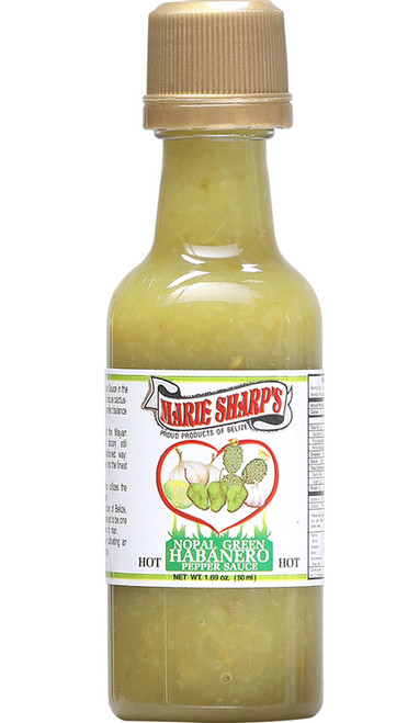 Marie Sharp's Green Habanero Mini Hot Sauce with Prickly Pears, 1.69oz.