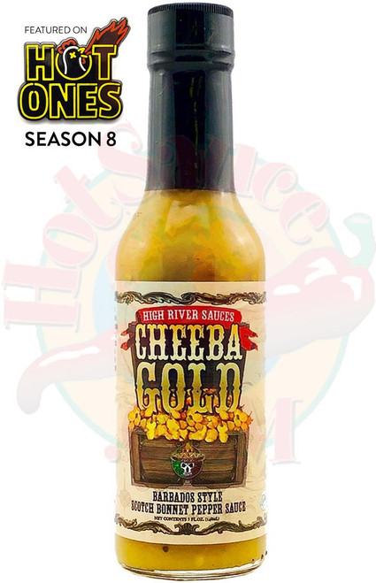High River Sauces Cheeba Gold Barbados Style Scotch Bonnet Pepper Sauce, 5oz.