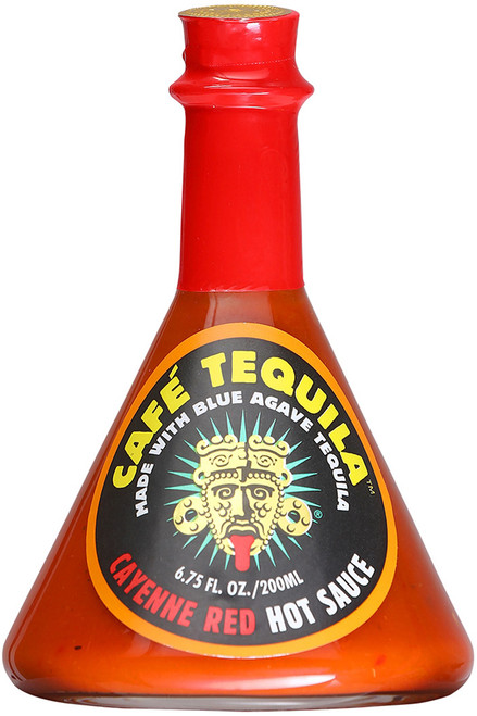 Cafe Tequila Cayenne Red Hot Sauce, 6.75oz.