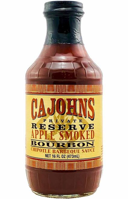 CaJohn's Applewood Smoked Bourbon Chipotle Barbecue Sauce, 16oz.