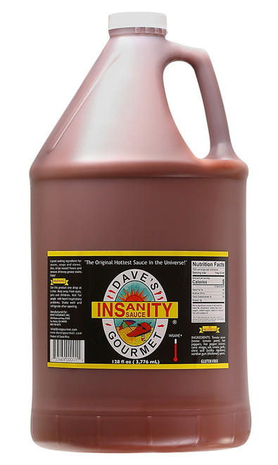 Dave's Gourmet Insanity Sauce Hot Sauce Gallon, 128oz.