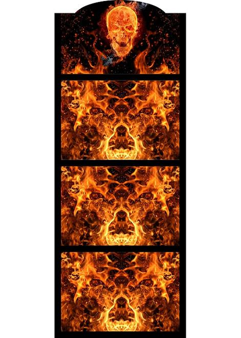 Hot Sauce 4 Shelf (Flaming Skull) Hot Sauce Rack, Displays 28/5oz. (Sold Out)
