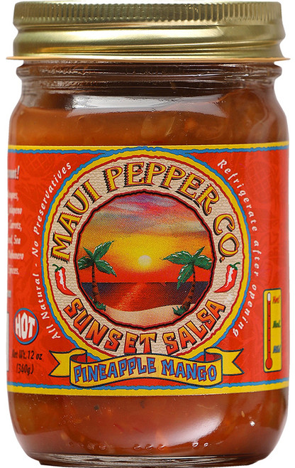 Tahiti Joe's Maui Pepper Sunset Salsa Pineapple - Hot, 12oz.