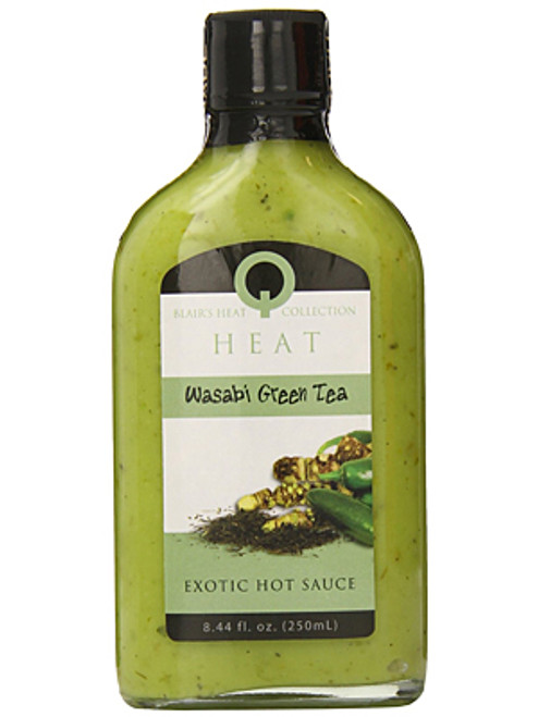 Blair's Q Heat Wasabi Green Tea Exotic Hot Sauce, 8.44oz.