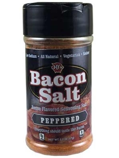 J&D's Peppered Bacon Salt, 2.5oz.