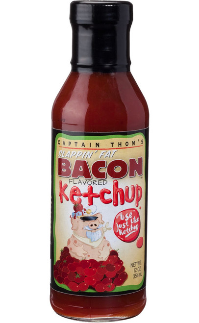 Captain Thom's Slappin' Fat Bacon Flavored Ketchup, 12oz.