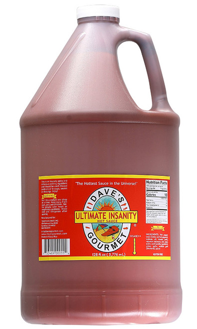 Dave's Ultimate Insanity Sauce Gallon, 128oz.