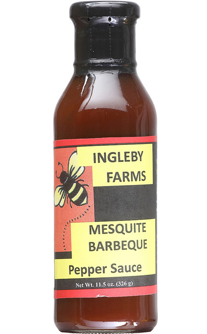 Ingleby Farms Mesquite BBQ Pepper Sauce, 11.5oz.
