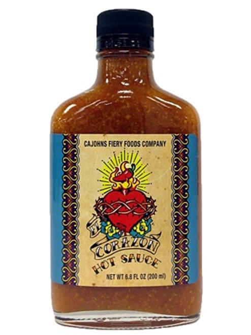 CaJohn's El Corazon Hot Sauce, 6.8oz.