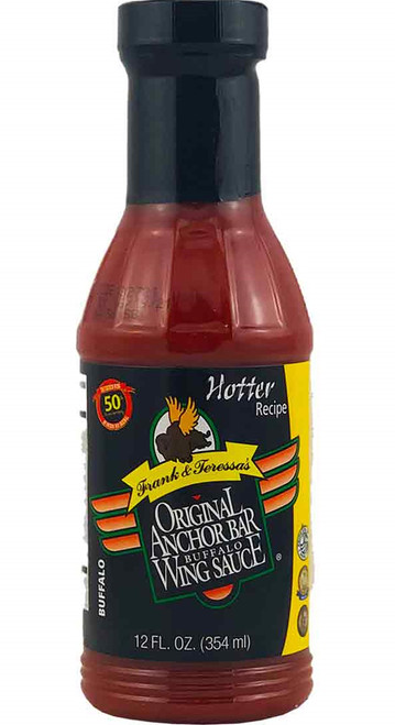 Anchor Bar Hotter Buffalo Wing Sauce, 12oz.