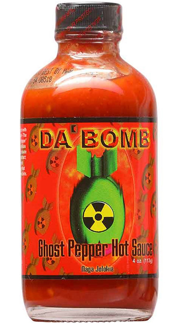 Da Bomb Ghost Pepper Hot Sauce, 4oz.