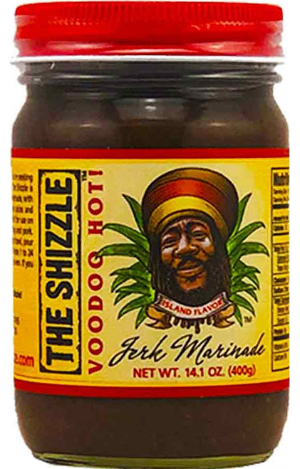 The Shizzle Voodoo Hot! Jerk Marinade, 14oz.