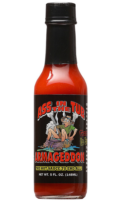Ass in the Tub Special Reserve Armageddon Hot Sauce, 5oz.