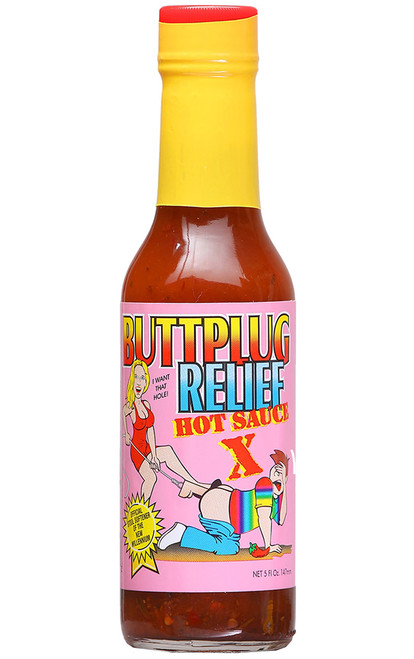Buttplug Relief Extra Hot Sauce, 5oz.