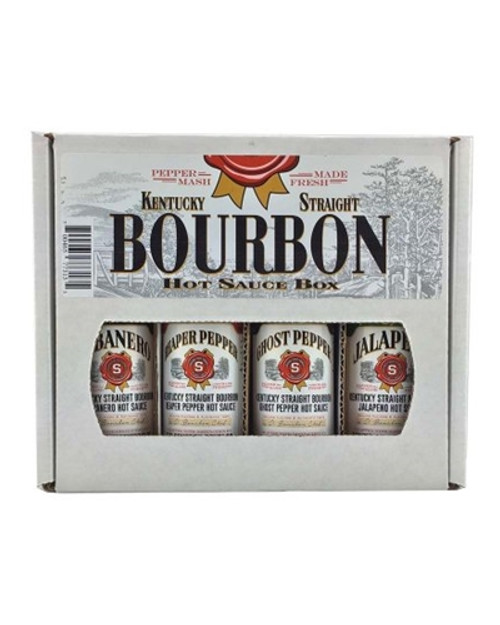 Kentucky Straight Bourbon Hot Sauce Gift Box, 4/5oz.