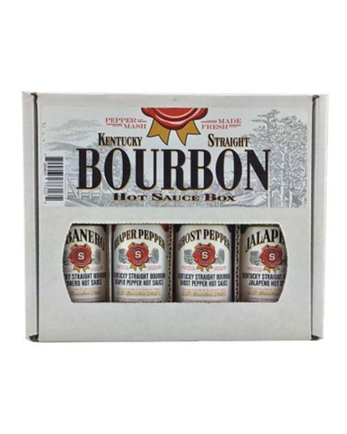 Kentucky Straight Bourbon Hot Sauce Gift Box, 4/5oz.