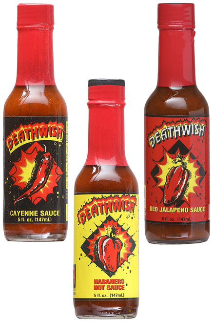 DeathWish Hot Sauce Gift Set, 3/5oz.