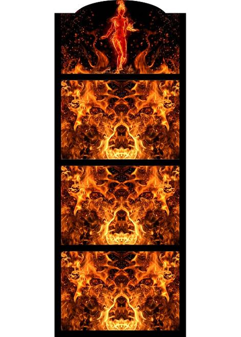 Hot Sauce 4 Shelf (Flaming Beauty) Hot Sauce Rack, Displays 28/5oz. (Sold Out)