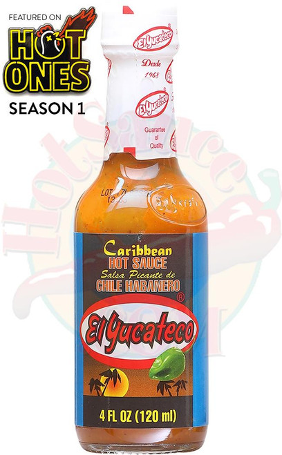 El Yucateco Caribbean Hot Sauce, 4oz.