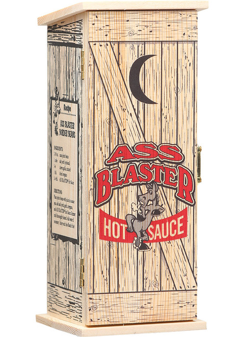 Ass Blaster Collector's Hot Sauce w/ Wooden Outhouse, 5oz.