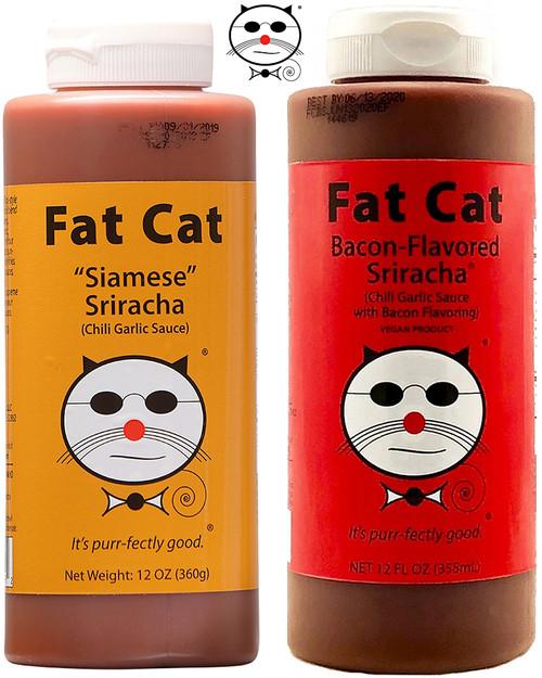 Fat Cat Sriracha Sauces Gift Set, 2/12oz.
