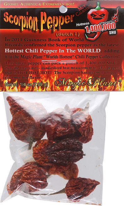 Whole Dried Premium Scorpion Pepper Pods, 1/4oz.