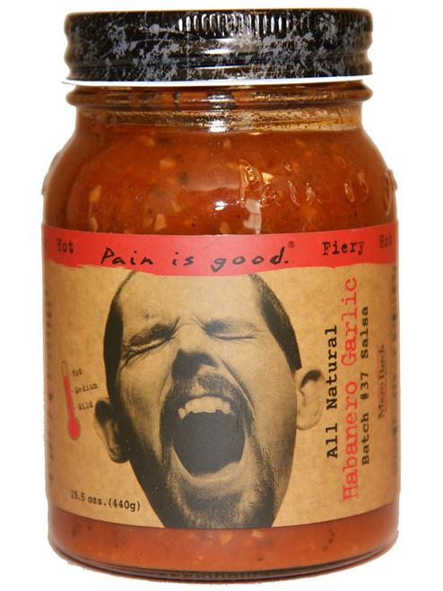 Pain Is Good Batch #37 Habanero Garlic Salsa, 15.5oz.