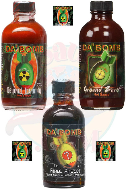 Da Bomb Hottest Hot Extracts Gift Set, 2/4oz., 1/2 oz.