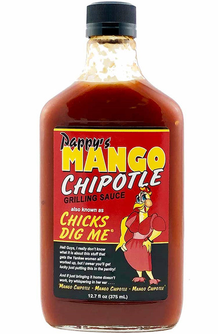 Pappy's Chicks Dig Me Mango Chipotle Grilling Sauce, 12.7oz.