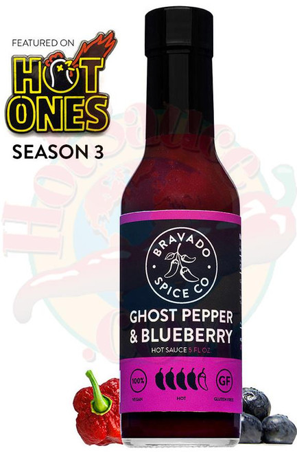 Bravado Spice Co Ghost Pepper Blueberry Hot Sauce, 5oz.