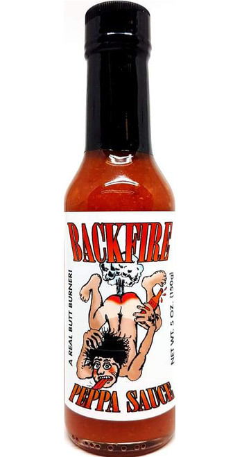 Backfire Peppa Sauce, A Real Butt Burner!, 5oz.