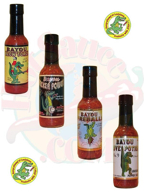 Bayou Hot Sauces Hotter Gift Set, 4/5oz.