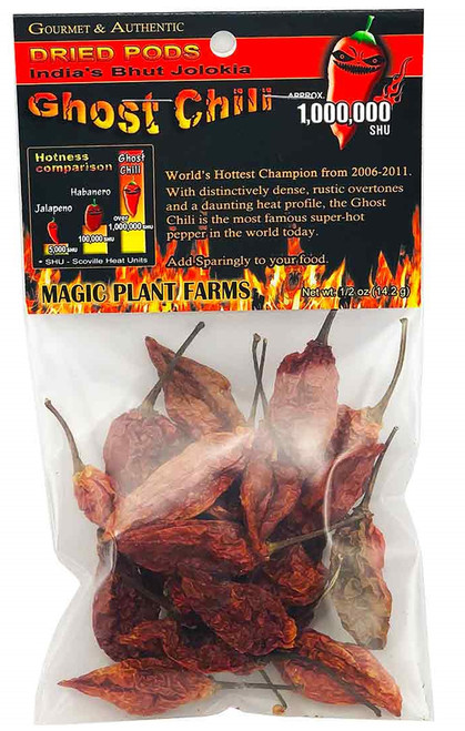 Whole Dried Premium Ghost Chiles Pods, 1/2oz.