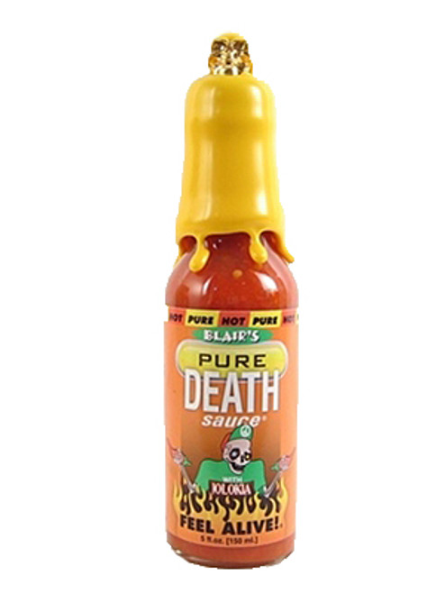 Blair's PRE Pure Death Collector's Hot Sauce w/ Gold Skull (Yellow Wax), 5oz. - #1/30 - SOLD!