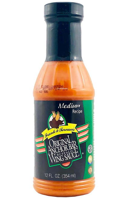 Anchor Bar Medium Original Buffalo Wing Sauce, 12oz.