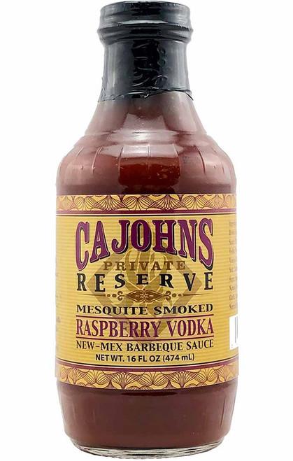 CaJohn's Mesquite Smoked Raspberry Vodka New-Mex Barbeque Sauce, 16oz.