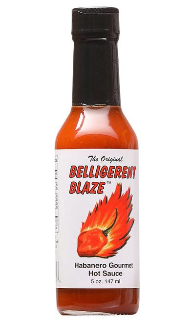 Belligerent Blaze Habanero Gourmet Hot Sauce, 5oz.