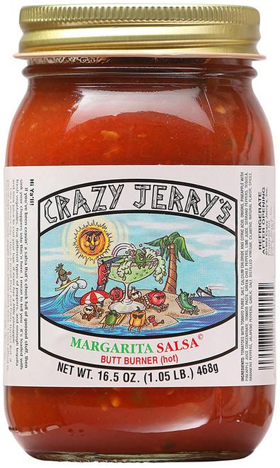 Crazy Jerry's Margarita Butt Burner Hot Salsa, 16.5oz.